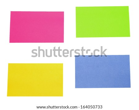 color sticky notes over white