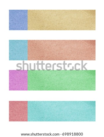 Color sticky notes set on white background with copy space