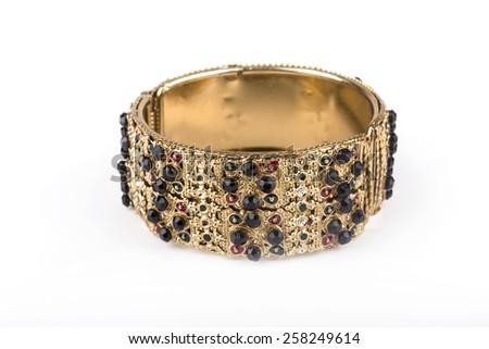 color stone bracelets - stock photo