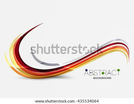 Color stripes with shiny light effects, wave line abstract background - color curve lines in motion concept and with light and shadow effects. Presentation banner and business card message design - stock photo