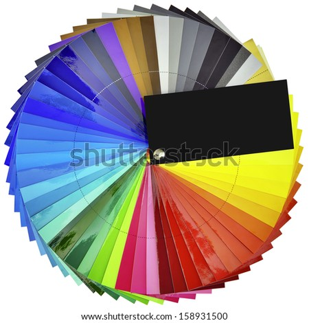 Color Swatch Isolated with Clipping Paths - stock photo