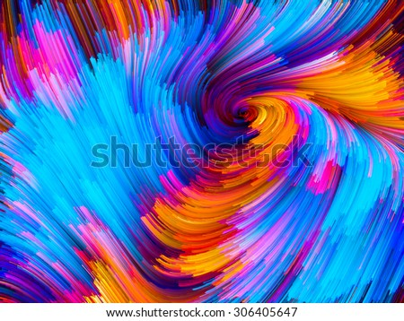 Color Swirl series. Design composed of pattern of swirling color strands as a metaphor on the subject of creativity, imagination and art