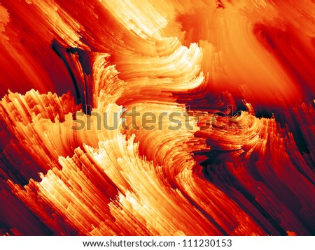 Color Swirls Series. Backdrop design of streaks of digital paint to provide supporting composition for illustrations on art, design and creativity