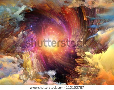 Color Swirls Series. Backdrop of streaks of digital paint on the subject of art, design and creativity