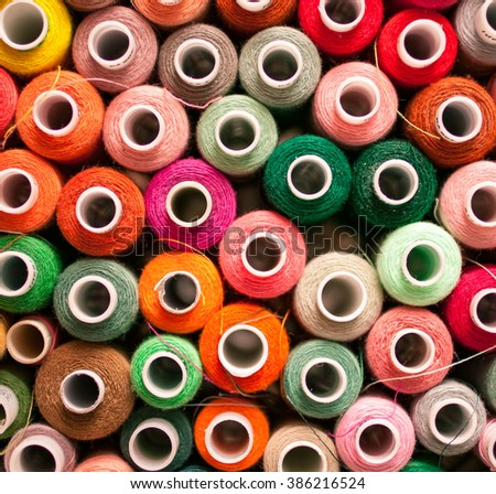 Color threads for sewing background