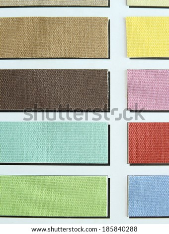 color tone of fabric swatch samples - stock photo