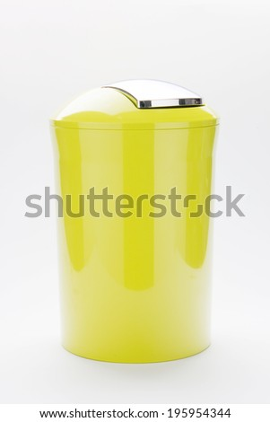 Color trash can on isolated background - stock photo