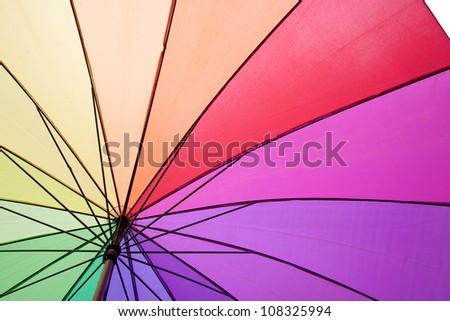 color umbrella - stock photo