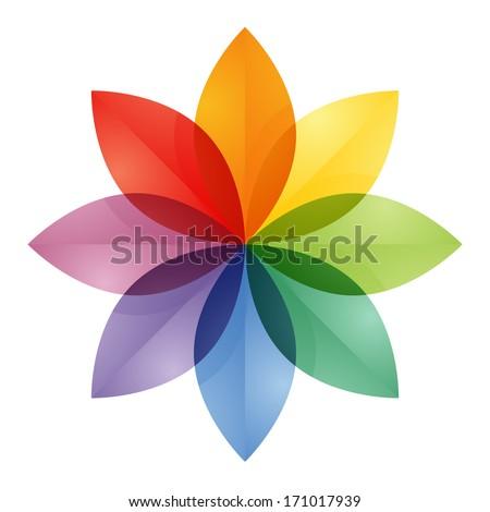 Color Wheel Flower Stock Illustration 171017939