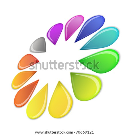 Color Wheel isolated on white background