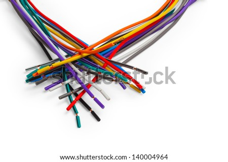 color wire cable technology equipment plastic network electric power isolated