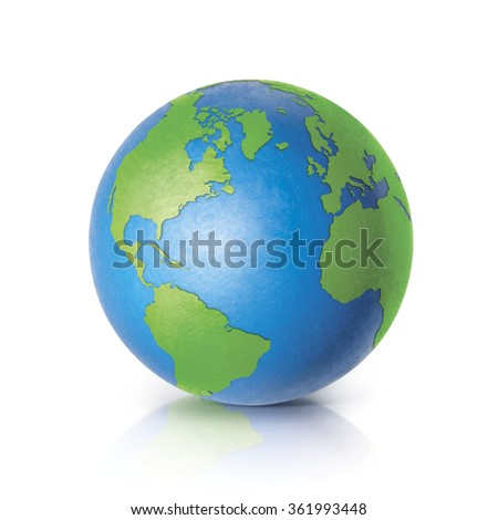 Color world on white background - stock photo