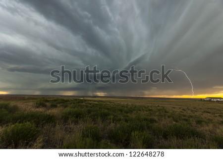Colorado lightning 2 - stock photo