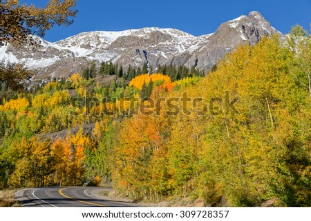 Colorado Mountain Highway in Fall