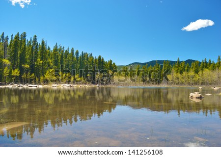 Colorado mountain lake. - stock photo