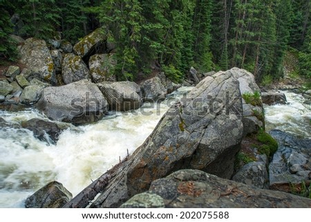 Colorado Mountain River. Alpine Mountain Stream. - stock photo