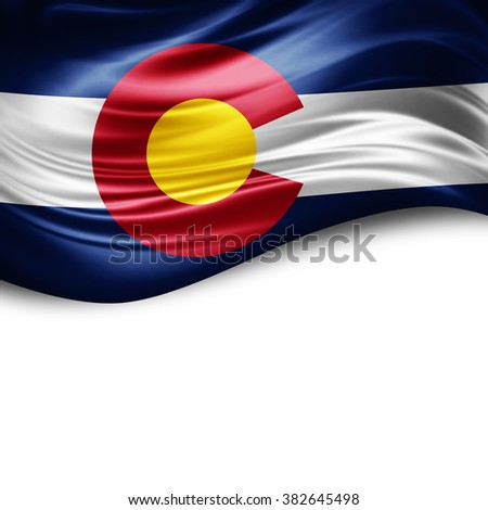 Colorado of silk with copyspace for your text or images and white background