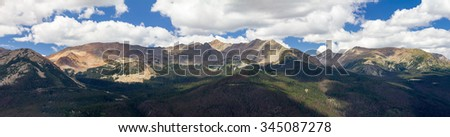 Colorado panoramic landscape scene in Rocky Mountain National Park - stock photo