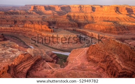 Colorado River Canyon from Dead Horse State Park - stock photo