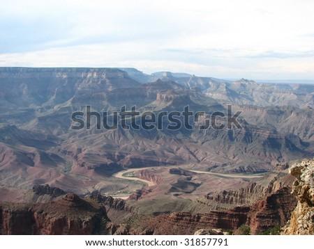 Colorado River in Grand Canyon - stock photo