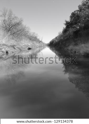 Colorado river Texas. - stock photo