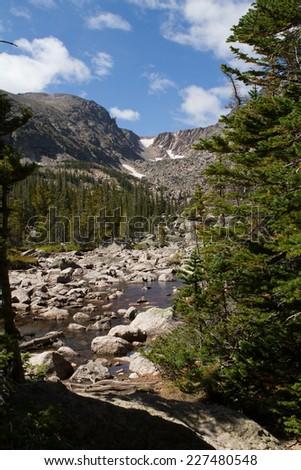 Colorado Rocky Mountains - stock photo