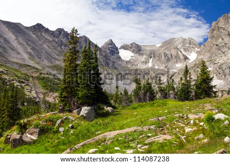 Colorado Rocky Mountains Landscape in Summer - stock photo