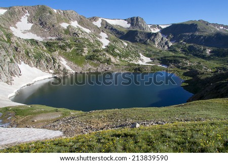 Colorado's Indian Peaks Wilderness - the King Lake trail - stock photo