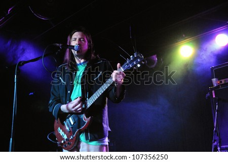 COLORADO SPRINGS, CO. USA	FEBRUARY 01:		Vocalist/Guitarist Evan Dando of the Lemonheads performs in concert February 1, 2012 at the Black Sheep in Colorado Springs, CO. USA