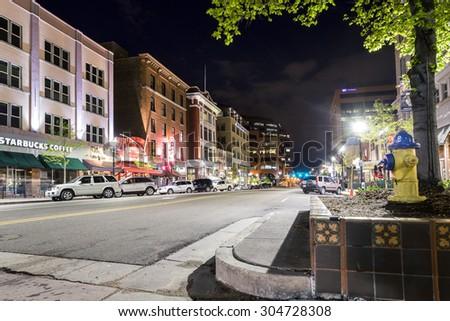 Colorado Springs, Colorado - May 14, 2015: Main street in Colorado Spring, Colorado, USA - stock photo