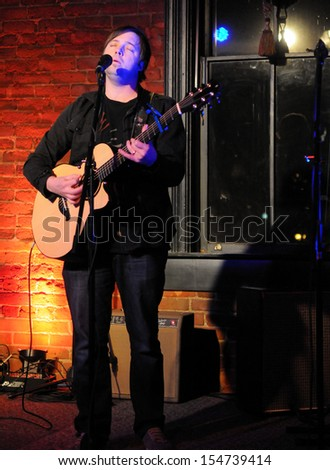 COLORADO SPRINGS		DECEMBER 31:		Musician Jonah Werner performs in concert December 31, 2011 at The Loft music hall in Colorado Springs CO.