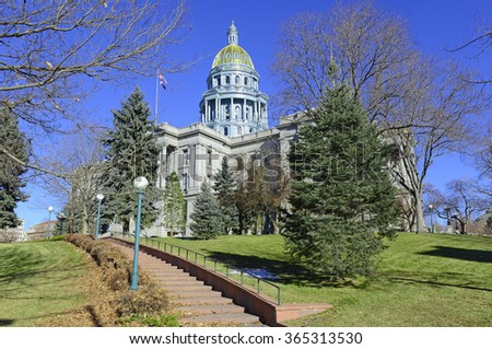 Colorado State Capitol Building, home of the General Assembly, Denver. - stock photo