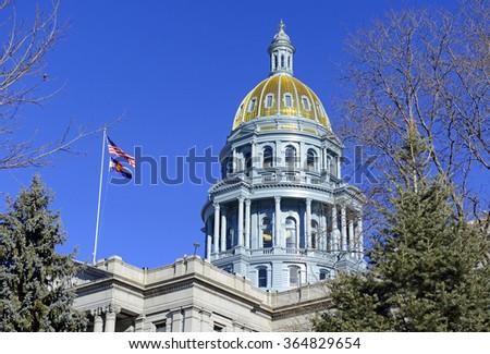 Colorado State Capitol Building, home of the General Assembly, Denver, Colorado. USA - stock photo