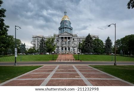 Colorado State Capitol building in Denver, Colorado - stock photo