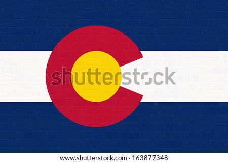 Colorado state flag of America, isolated on white background.  - stock photo