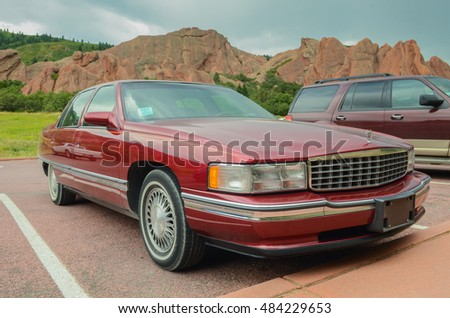 Colorado, USA - August 28, 2016: Cadillac Sedan DeVille