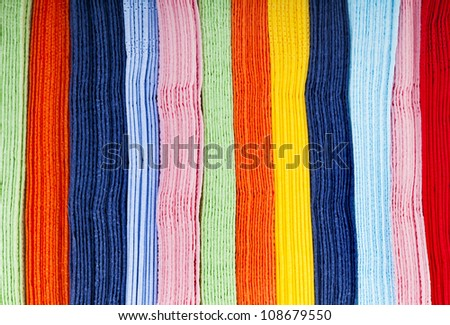 colored abstract texture of strips lines - stock photo
