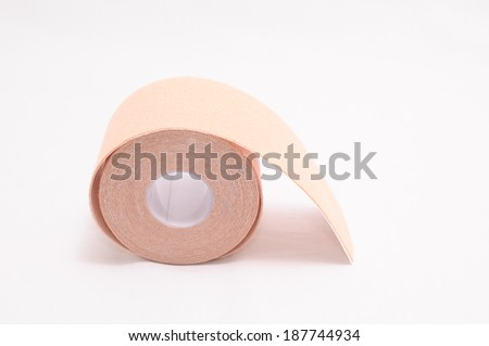 colored adhesive cloth tape on white background