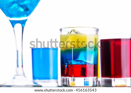 Colored alcoholic shot