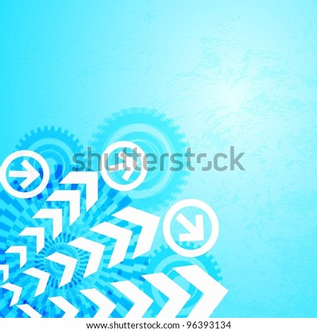 Colored arrow abstract background. - stock photo