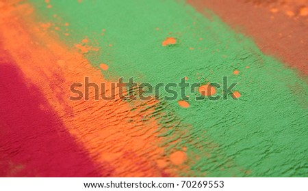 Colored background / Photo background of colored powder - stock photo