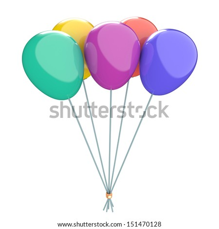 Colored balloon, 3d