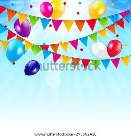 Colored Balloons Background,  Illustration.  EPS 10 - stock photo