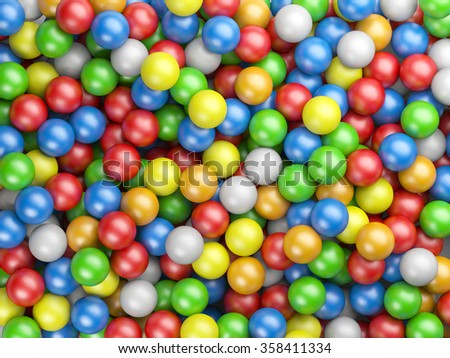 Colored balls background from small spheres