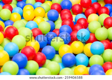 Colored balls to play with children and babies. - stock photo