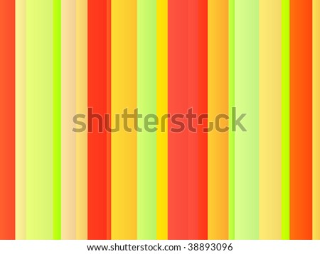 Colored bands of vertical striped lines illustration