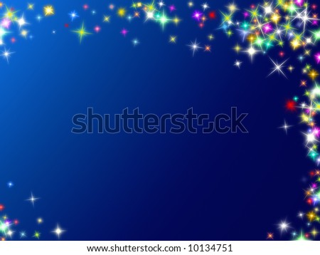 colored blue stars background