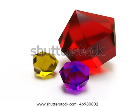 Colored brilliants - stock photo