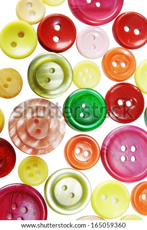 Colored buttons isolated on white