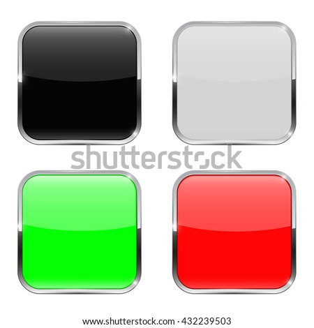 Colored buttons. Web icons. Illustration on white background. Raster version